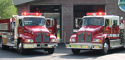 Photo of fire engines